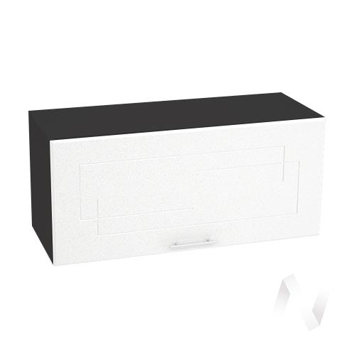 """Кухня """"Вега"""": Шкаф верхний горизонтальный 800, ШВГ 800 (белый металлик/корпус венге)"""