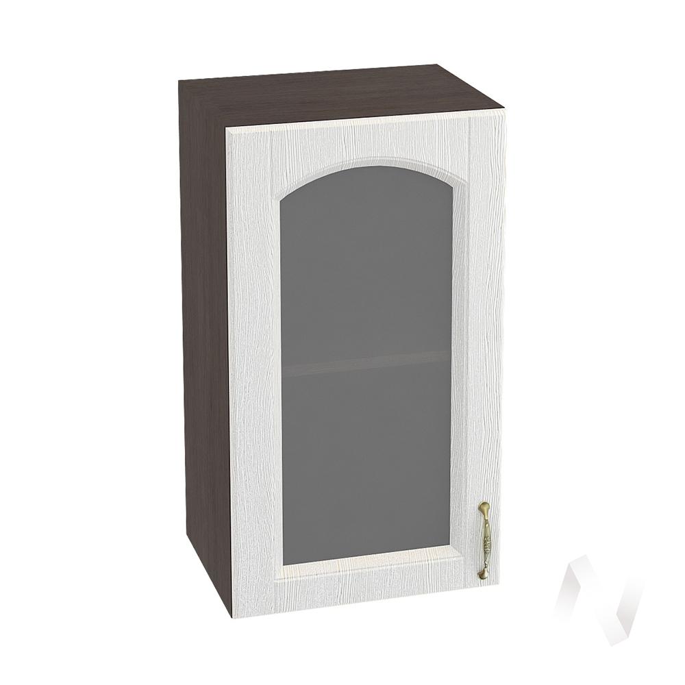 """Кухня """"Верона"""": Шкаф верхний со стеклом 400 левый, ШВС 400 (ясень золотистый/корпус венге)"""