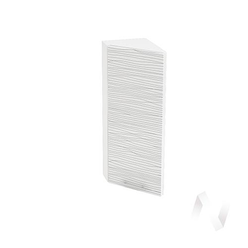 """Кухня """"Валерия-М"""": Шкаф верхний торцевой 224, ШВТ 224 (Страйп белый/корпус белый)"""