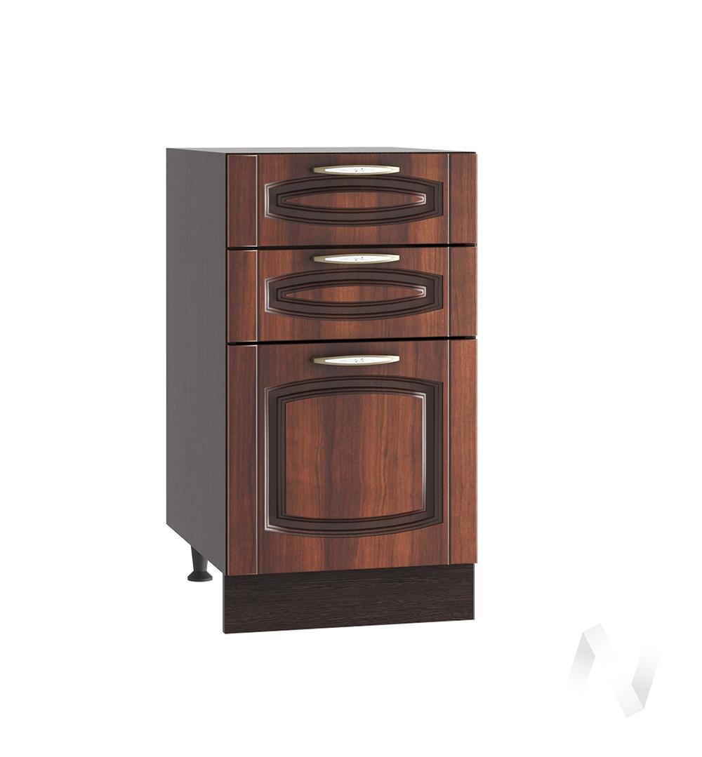 """Кухня """"Неаполь"""": Шкаф нижний с 3-мя ящиками 400, ШН3Я 400 (Италия/корпус венге)"""