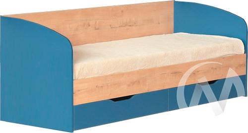 Космос М13 Кровать с ящиками 800*2000 (дуб бунратти/альпийское озеро)