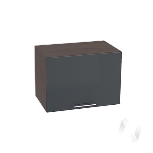 """Кухня """"Валерия-М"""": Шкаф верхний горизонтальный 500, ШВГ 500 (Антрацит глянец/корпус венге)"""