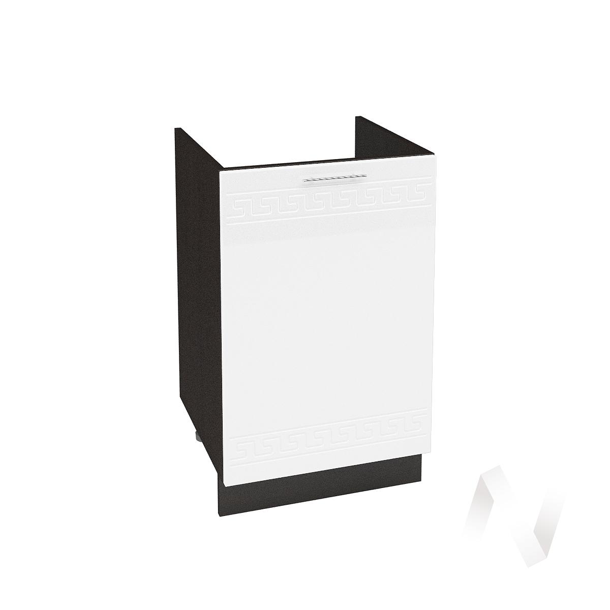 "Кухня ""Греция"": Шкаф нижний под мойку 500, ШНМ 500 (белый металлик/корпус венге)"