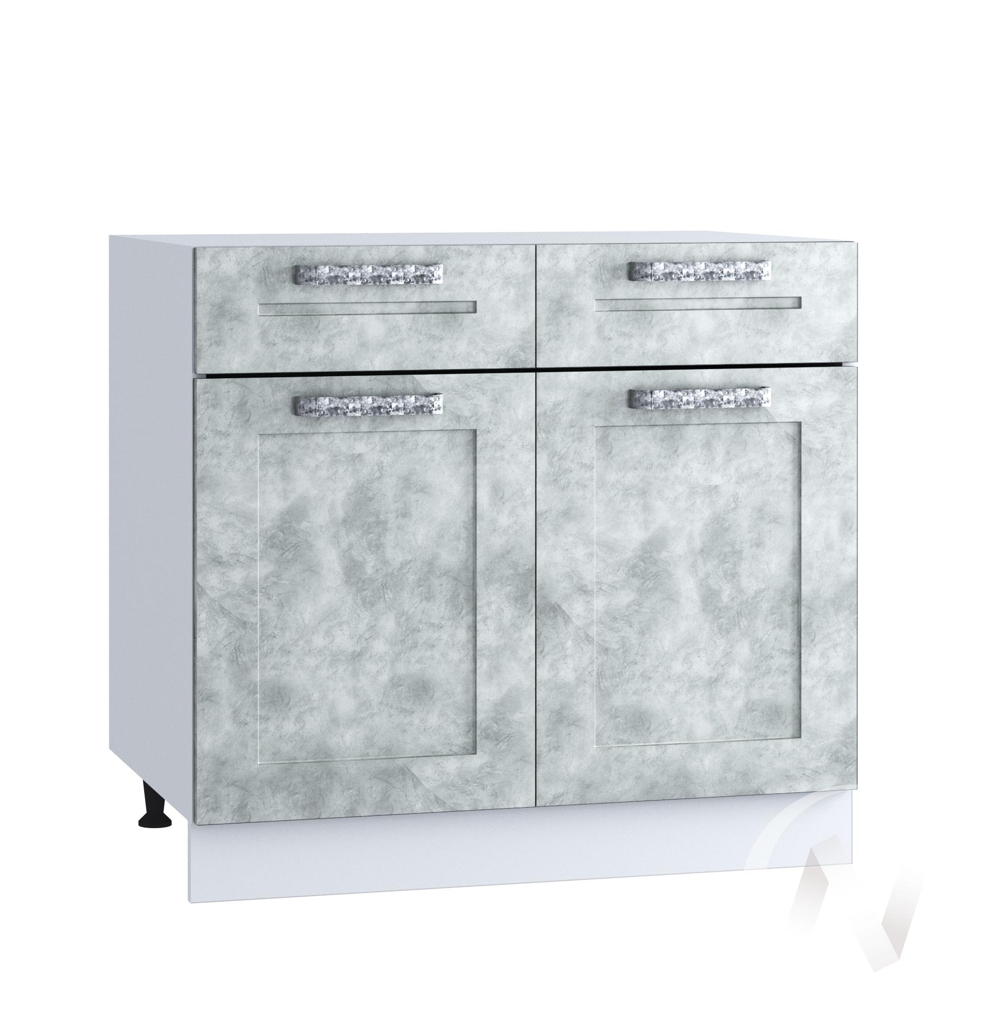 "Кухня ""Лофт"": Шкаф нижний с ящиками 800, ШН1Я 800 (Бетон серый/корпус белый)"
