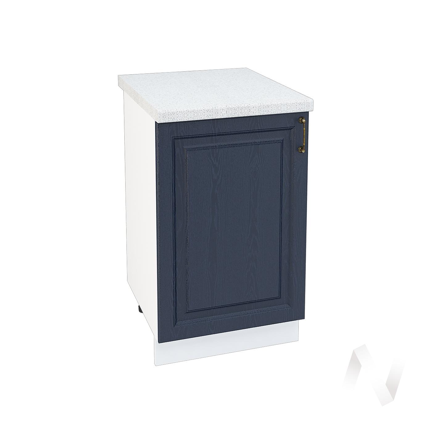 """Кухня """"Ницца"""": Шкаф нижний 500, ШН 500 (Дуб чернильный/корпус белый)"""