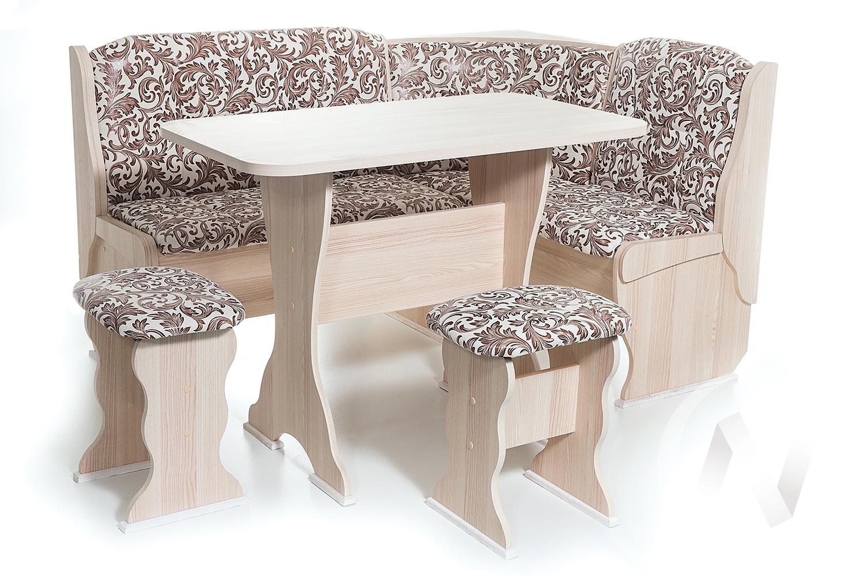 """Набор мебели для кухни """"Орхидея"""" ясень 623 замша (вензель) в Томске — авторская мебель Экостиль"""