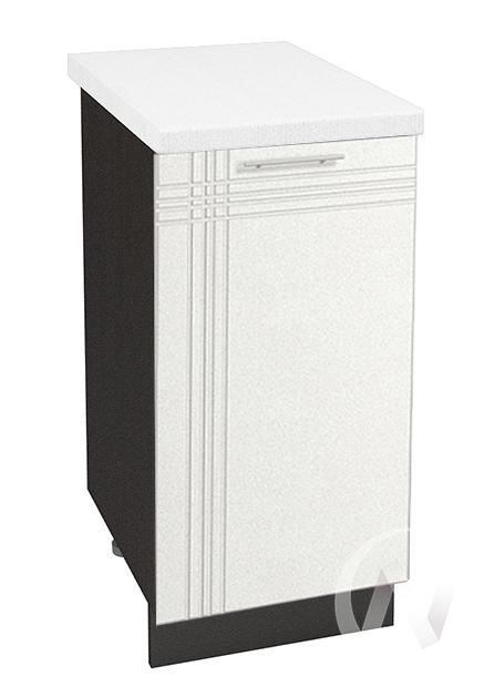 """Кухня """"Струна"""": Шкаф нижний 400, ШН 400 (белый металлик/корпус венге)"""