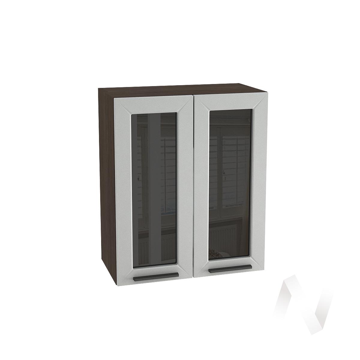 """Кухня """"Глетчер"""": Шкаф верхний со стеклом 600, ШВС 600 (Гейнсборо Силк/корпус венге)"""