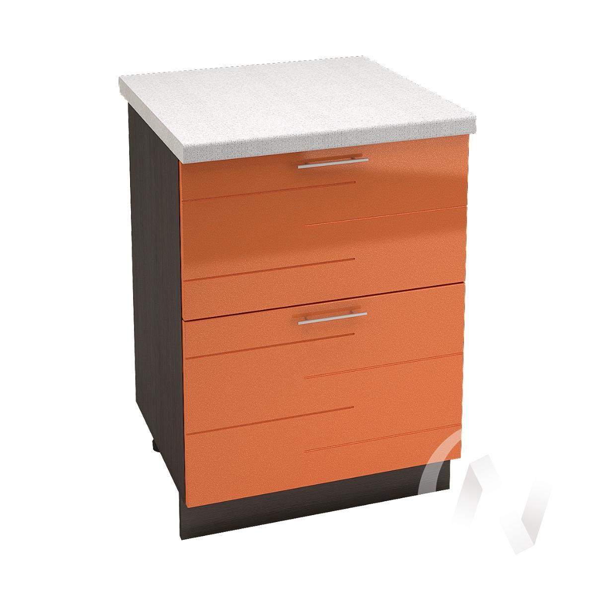 """Кухня """"Техно"""": Шкаф нижний с 2-мя ящиками 600, ШН2Я 600 (корпус венге)"""