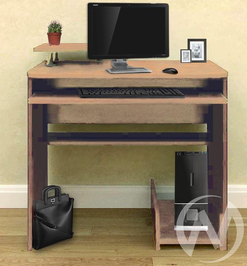 Компьютерный стол СК-8 (выбеленный дуб)  в Новосибирске - интернет магазин Мебельный Проспект