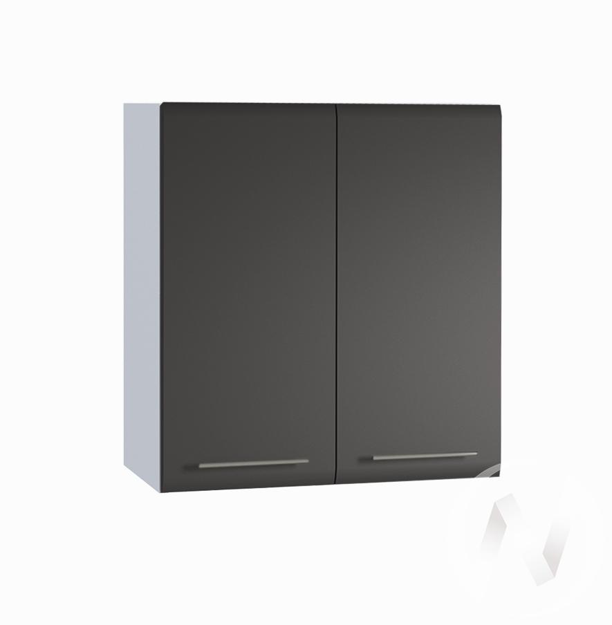 "Кухня ""Люкс"": Шкаф верхний 600, ШВ 600 (Шелк венге/корпус белый)"