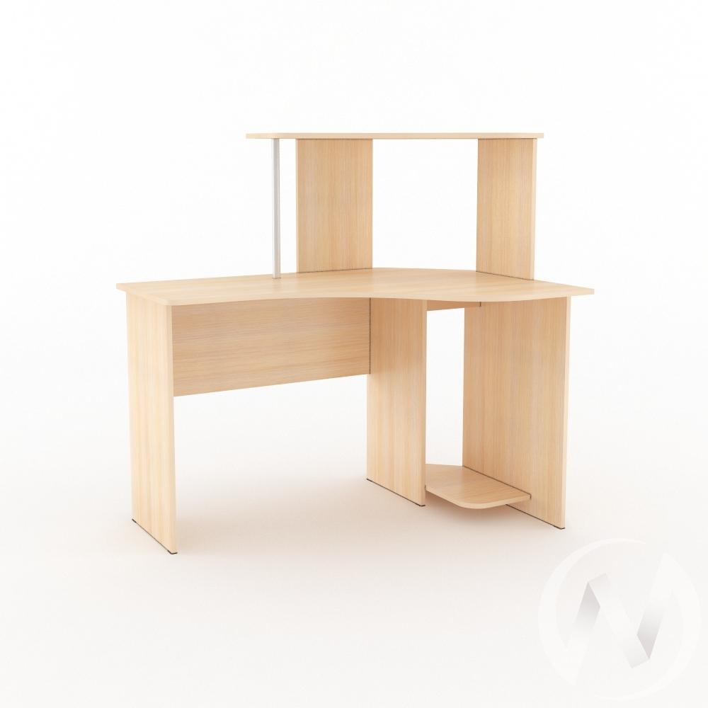 Компьютерный стол КС 1200 угловой (дуб молочный)  в Томске — интернет магазин МИРА-мебель