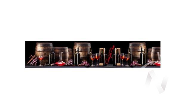Панель декоративная АВС пластик 600*3000 Вино (321) фф313