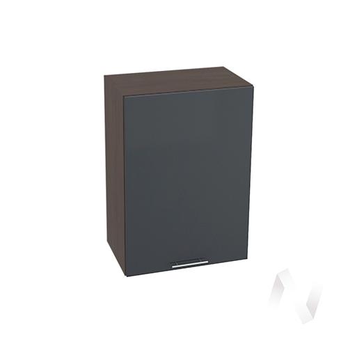 """Кухня """"Валерия-М"""": Шкаф верхний 500, ШВ 500 (Антрацит глянец/корпус венге)"""