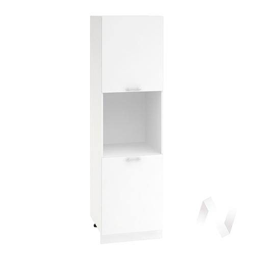 """Кухня """"Валерия-М"""": Шкаф пенал 600, ШП 600 (белый глянец/корпус белый)"""
