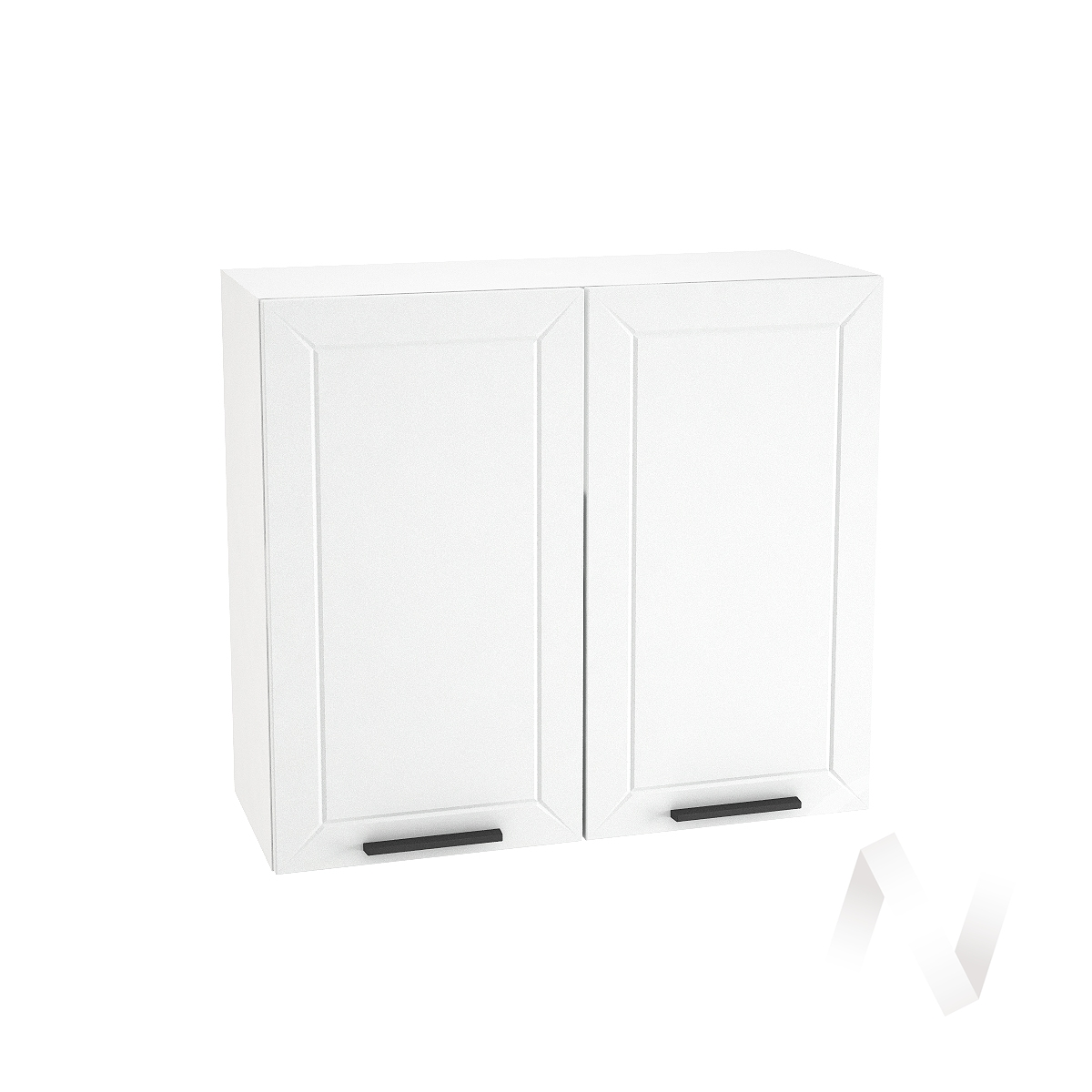 "Кухня ""Глетчер"": Шкаф верхний 800, ШВ 800 (Айленд Силк/корпус белый)"