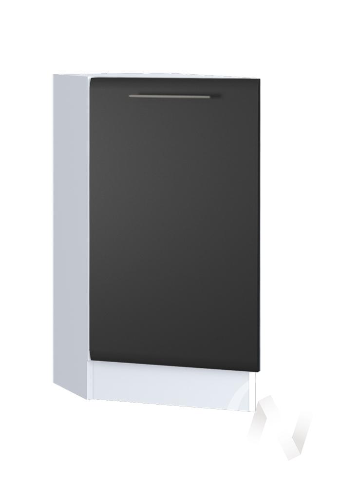 """Кухня """"Люкс"""": Шкаф нижний торцевой 300, ШНТ 300 (Шелк венге/корпус белый)"""