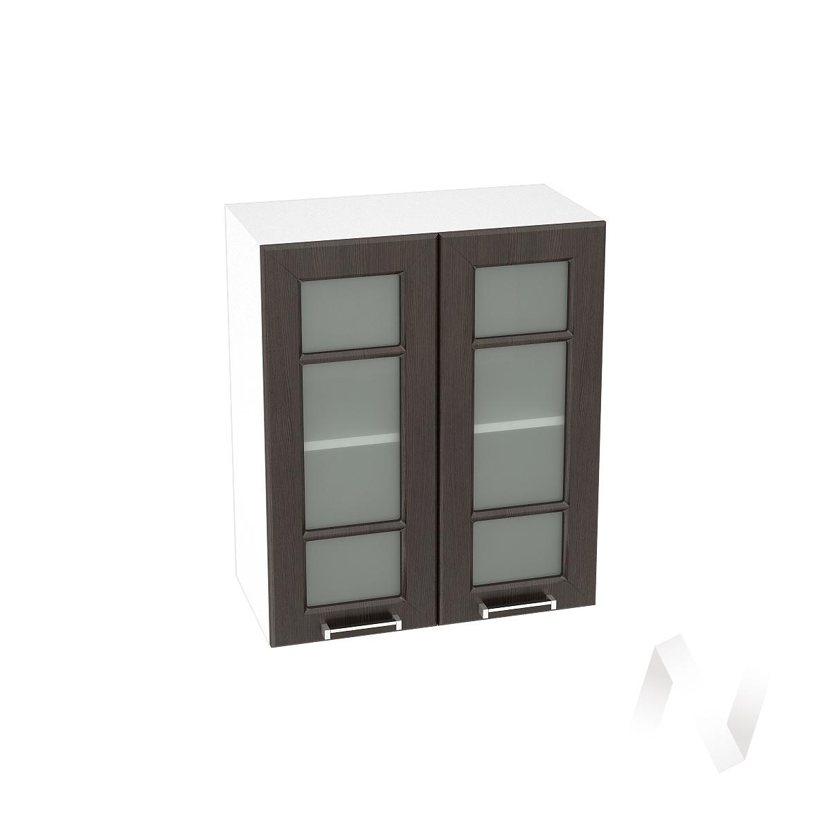 """Кухня """"Прага"""": Шкаф верхний со стеклом 600, ШВС 600 (венге/корпус белый)"""