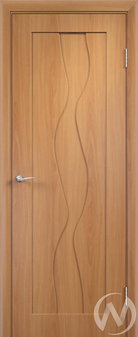 Дверь ПВХ Тип Водопад, 60, глухая, миланский  орех  в Новосибирске - интернет магазин Мебельный Проспект