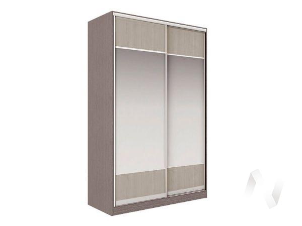 Шкаф-купе «Рене» 2-х дверный Витрина (ясень шимо темный/ясень шимо светлый)
