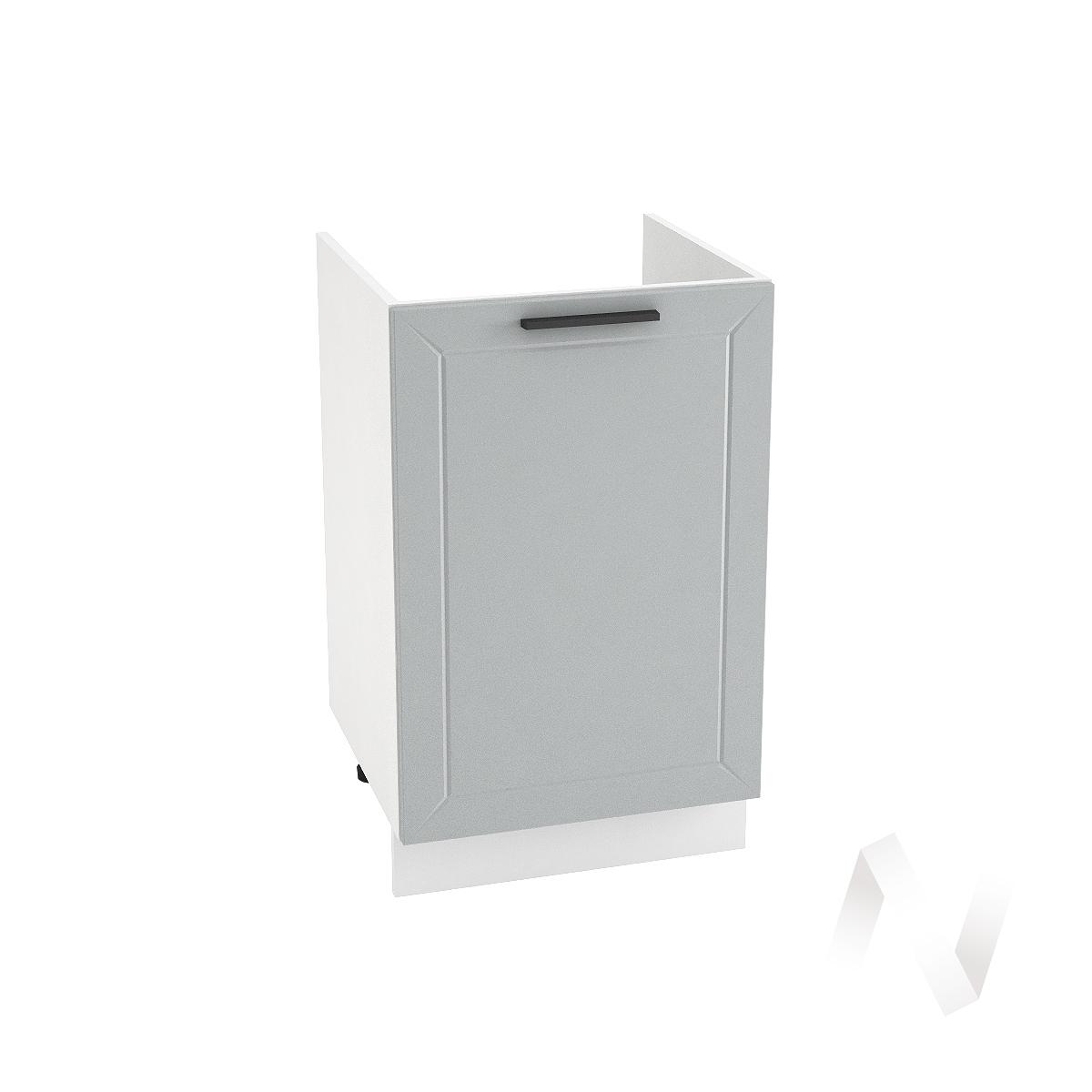 "Кухня ""Глетчер"": Шкаф нижний под мойку 500, ШНМ 500 (Гейнсборо Силк/корпус белый)"