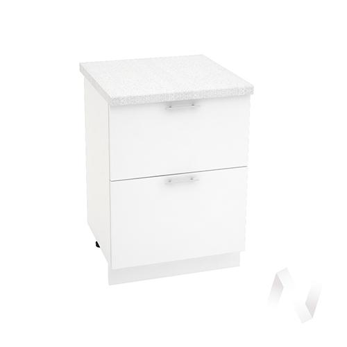 "Кухня ""Валерия-М"": Шкаф нижний с 2-мя ящиками 600, ШН2Я 600 (белый глянец/корпус белый)"