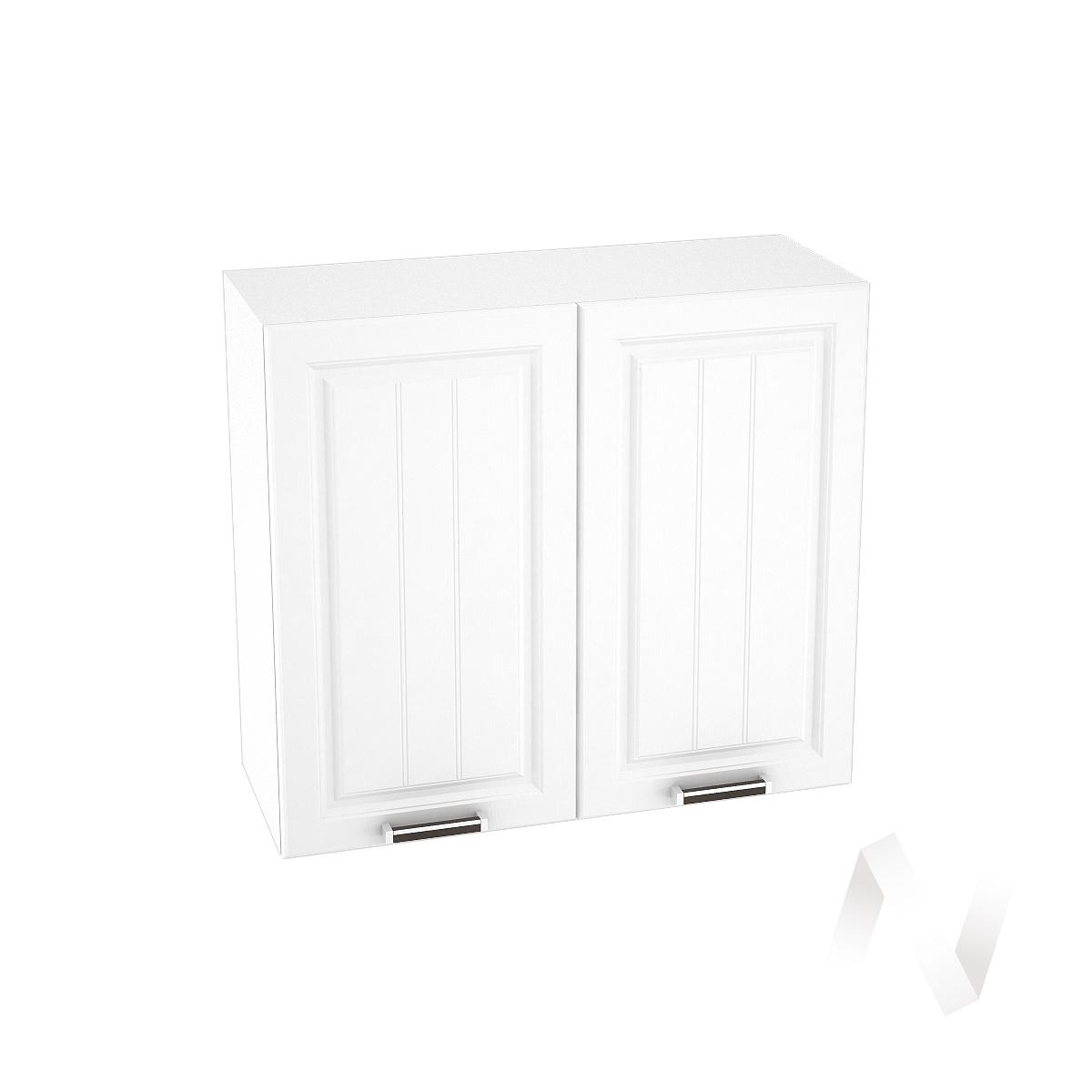 """Кухня """"Прага"""": Шкаф верхний 800, ШВ 800 (белое дерево/корпус белый)"""