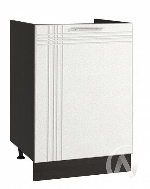"""Кухня """"Струна"""": Шкаф нижний под мойку 500, ШНМ 500 (белый металлик/корпус венге)"""