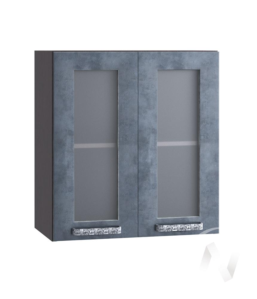 """Кухня """"Лофт"""": Шкаф верхний со стеклом 600, ШВС 600 (Бетон графит/корпус венге)"""