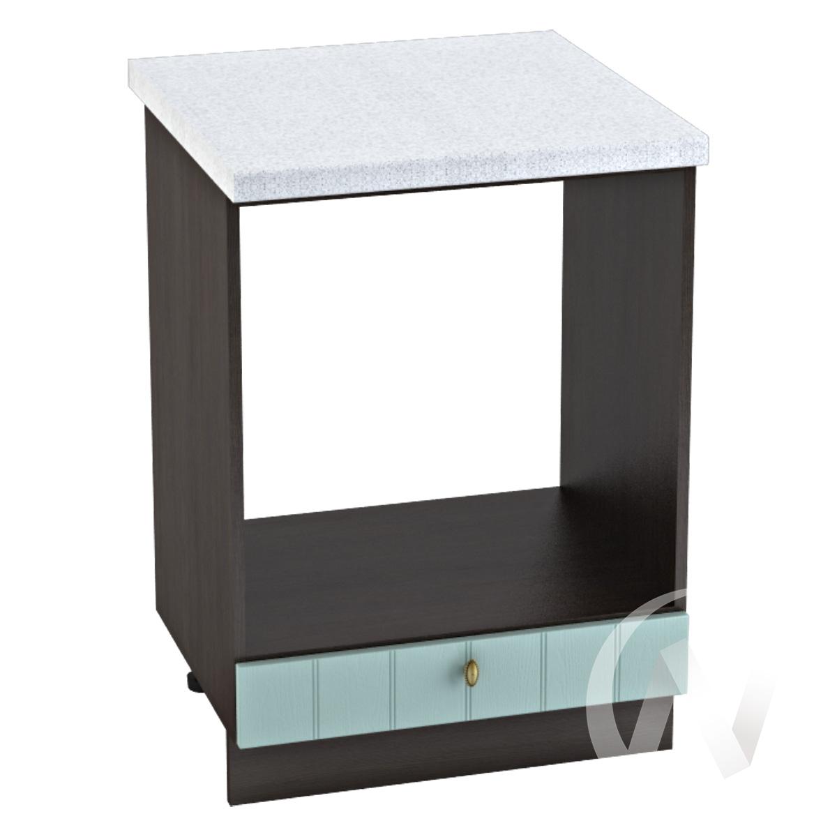 """Кухня """"Прованс"""": Шкаф нижний под духовку 600, ШНД 600 (голубой/корпус венге)"""
