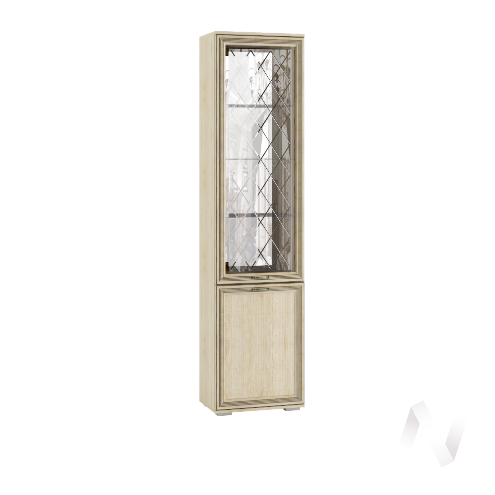 Пенал с витриной ЛШ-4 Гостиная Ливорно (дуб сонома)