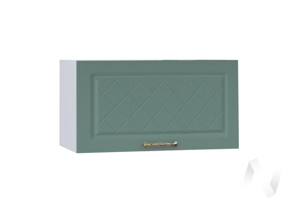 """Кухня """"Селена"""": Шкаф верхний горизонтальный 600, ШВГ 600 (Дуб бирюзовый/корпус белый)"""