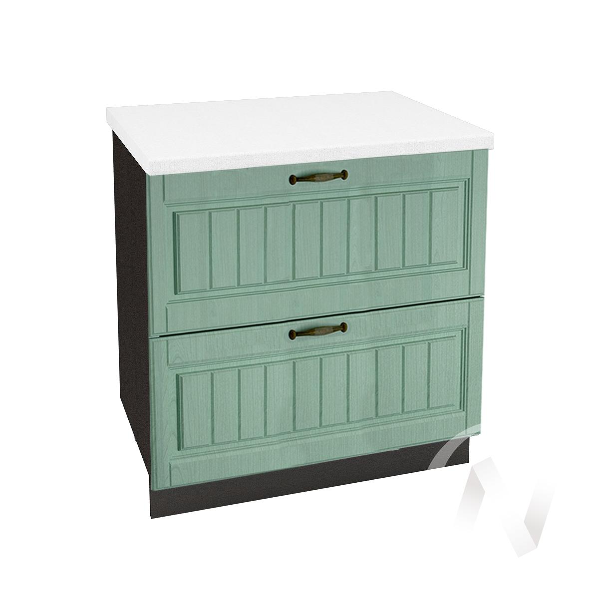 "Кухня ""Прованс"": Шкаф нижний с 2-мя ящиками 800, ШН2Я 800 (корпус венге)"