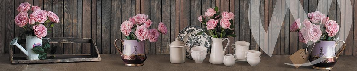 Панель декоративная ХДФ 610*2440*3,2 Винтаж цветы  в Новосибирске - интернет магазин Мебельный Проспект