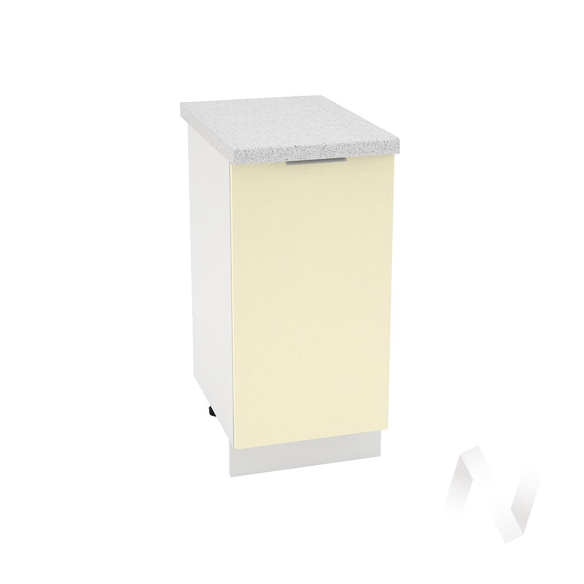 "Кухня ""Терра"": Шкаф нижний левый 400, ШН 400 (ваниль софт/корпус белый)"