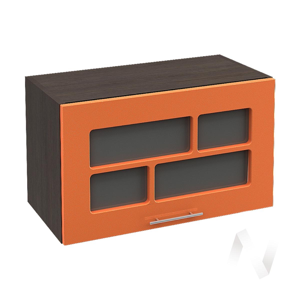 """Кухня """"Техно"""": Шкаф верхний горизонтальный со стеклом 600, ШВГС 600 (корпус венге)"""