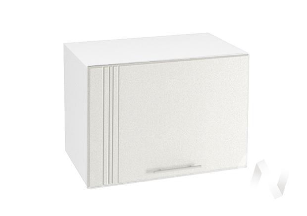 """Кухня """"Струна"""": Шкаф верхний горизонтальный 500, ШВГ 500 (белый металлик/корпус белый)"""
