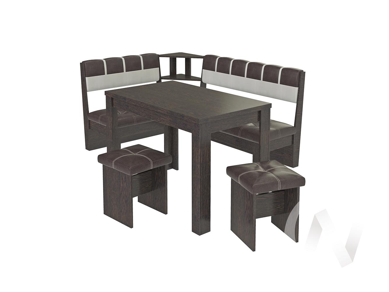 Кухонный уголок Уют-8 (венге/tbr capro 340/tbr capro 002)