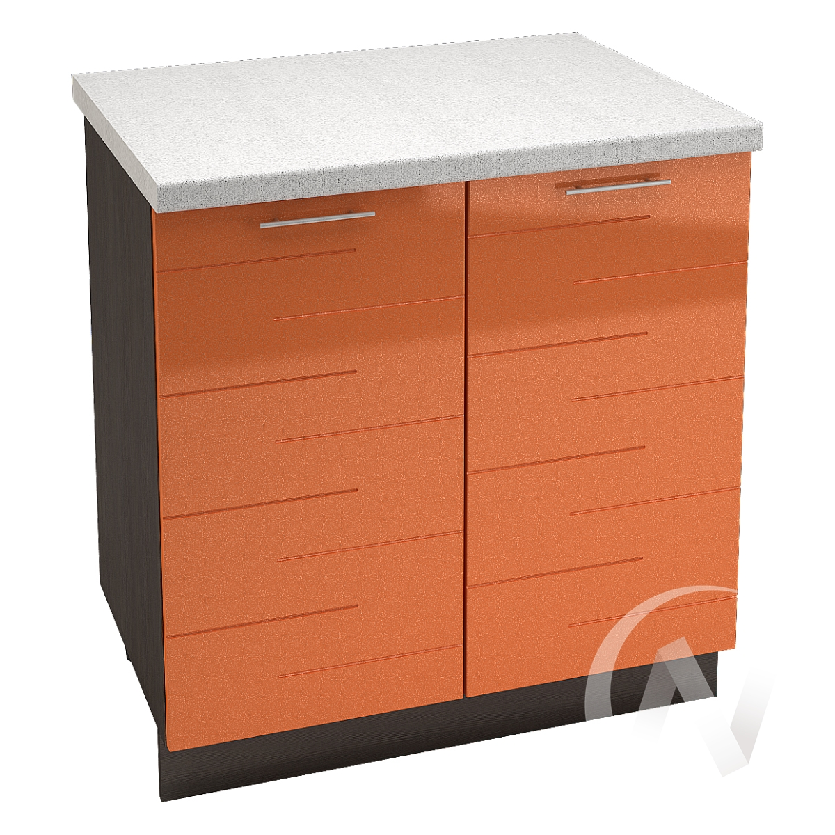 "Кухня ""Техно"": Шкаф нижний 800, ШН 800 (корпус венге)"
