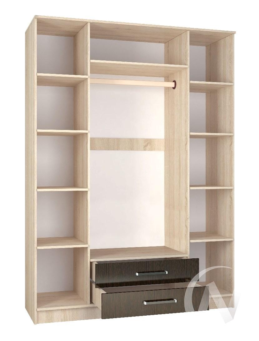 Шкаф 4х ств Спальня Лирика (дуб сонома/венге)  в Томске — интернет магазин МИРА-мебель