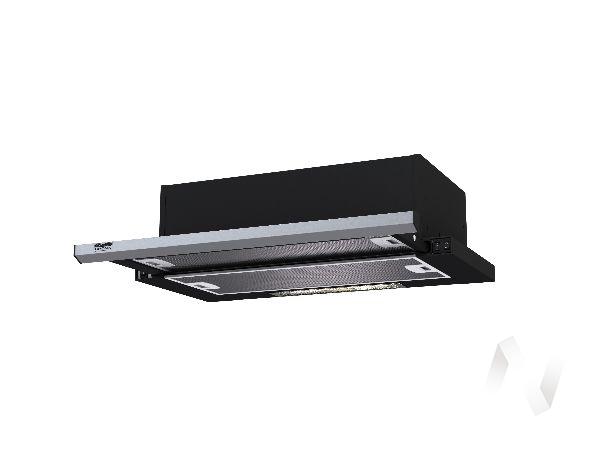 Вытяжка KAMILLA slim 600 black/inox (1 мотор)