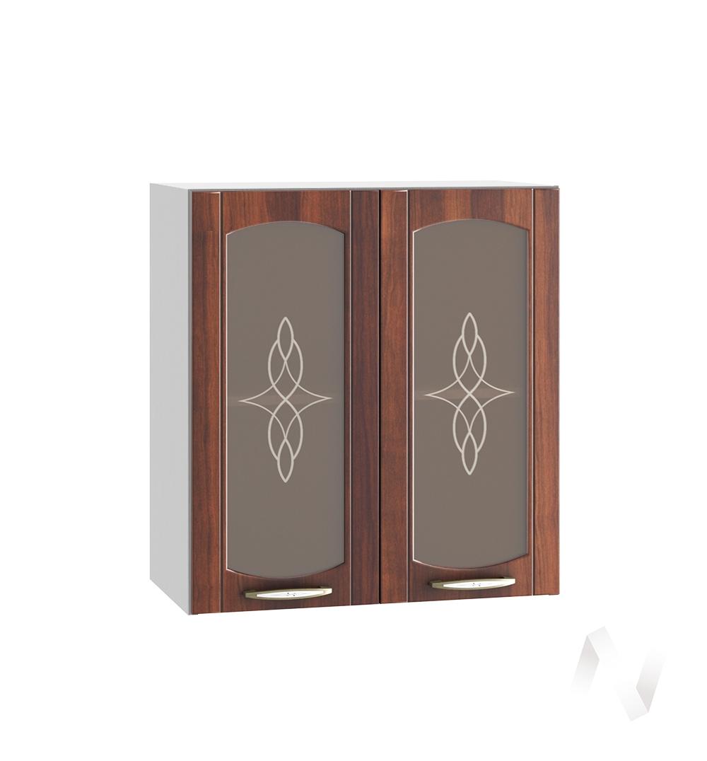 """Кухня """"Неаполь"""": Шкаф верхний со стеклом 600, ШВС 600 (Италия/корпус белый)"""