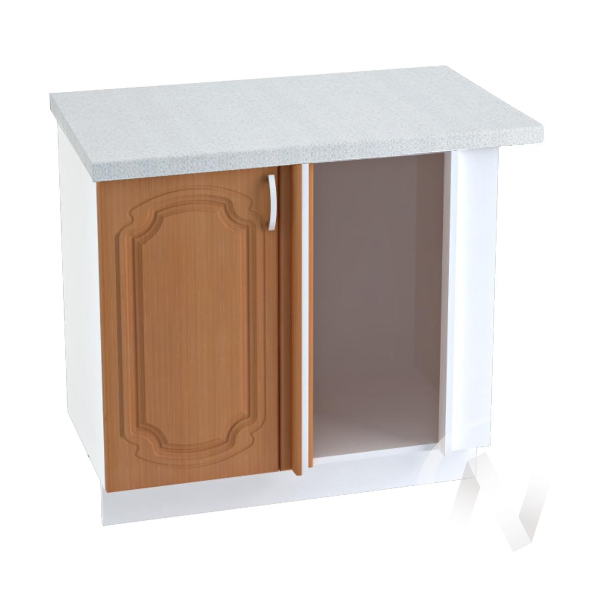 """Кухня """"Настя"""": Шкаф нижний угловой 990М, ШНУ 990М (Орех миланский/корпус белый)"""