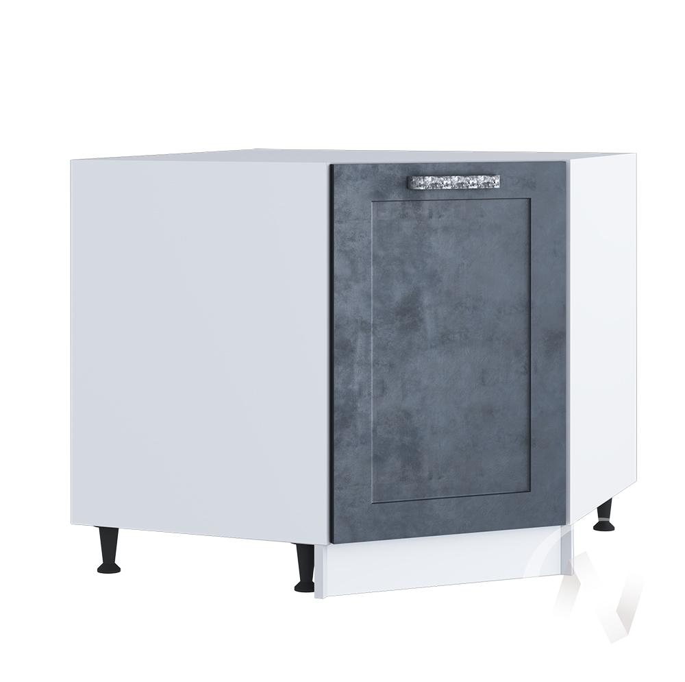 "Кухня ""Лофт"": Шкаф нижний угловой 890, ШНУ 890 (Бетон графит/корпус белый)"