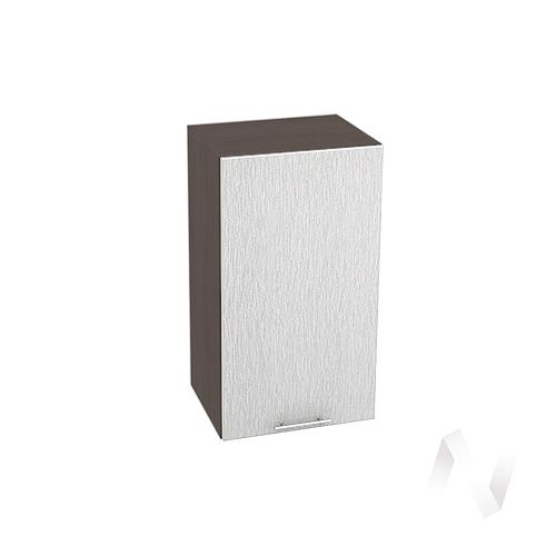 """Кухня """"Валерия-М"""": Шкаф верхний 400, ШВ 400 (дождь серый/корпус венге)"""