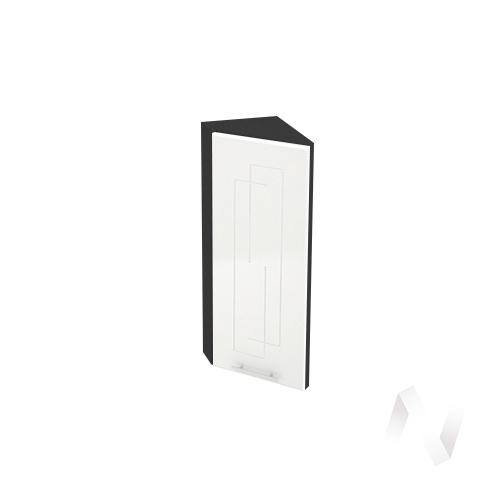 """Кухня """"Вега"""": Шкаф верхний торцевой 224, ШВТ 224 (белый металлик/корпус венге)"""