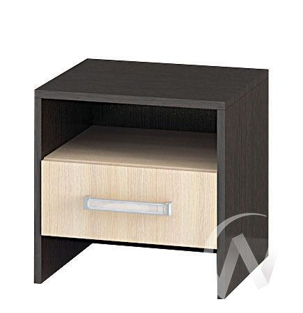 Тумба прикроватная Спальня Эрика (венге/дуб молочный)  в Томске — интернет магазин МИРА-мебель