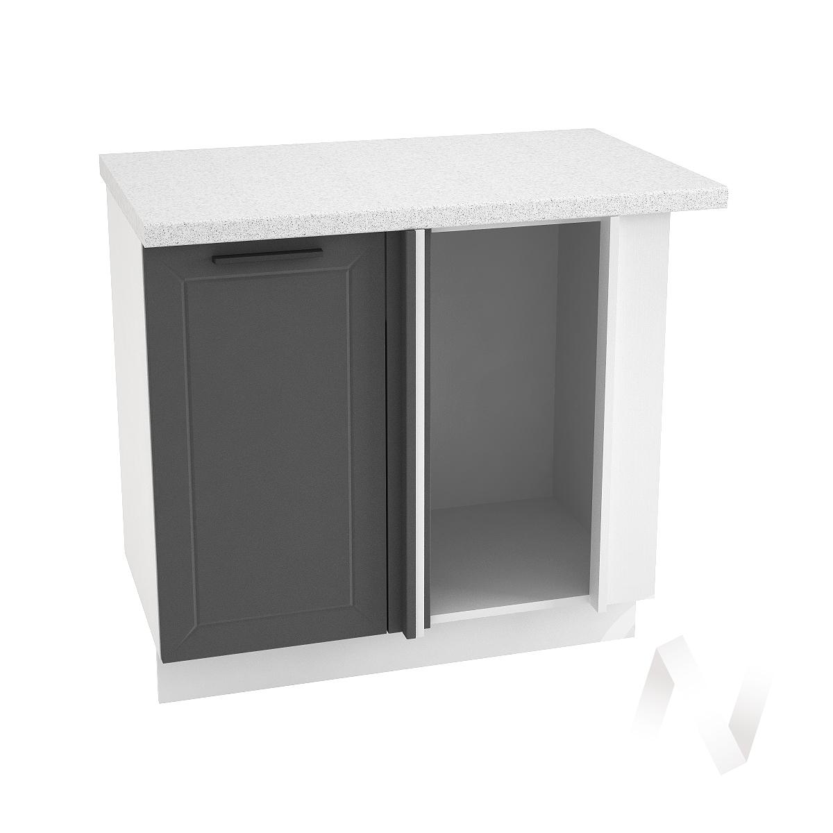 """Кухня """"Глетчер"""": Шкаф нижний угловой 990М, ШНУ 990М (Маренго силк/корпус белый)"""