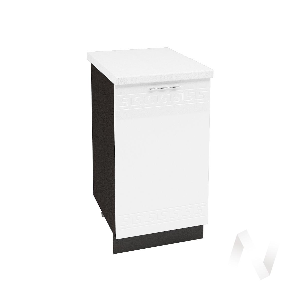 """Кухня """"Греция"""": Шкаф нижний 450, ШН 450 (белый металлик/корпус венге)"""