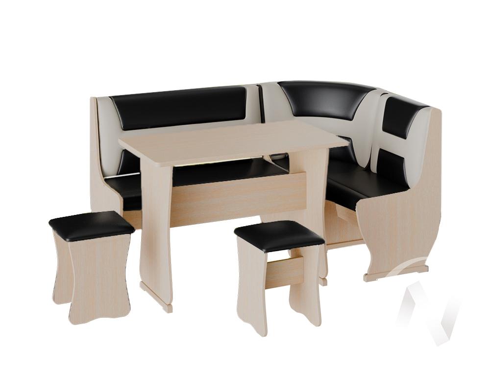 Кухонный уголок Уют 3 универсал кожзам (дуб молочный/шоколад,бежевый)  в Томске — интернет магазин МИРА-мебель